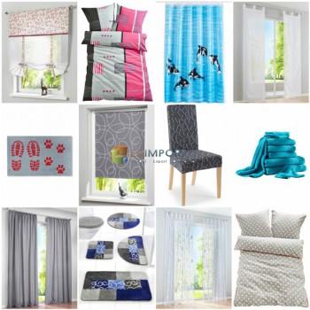 Домашний текстиль - шторы, ковры, постельное белье, занавески для душа и т.д.