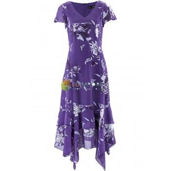 дамы платье с носовой платок подшить и цветочный принт