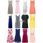 Женское платье смешанного пакета