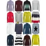 Женская осень Зимняя мода Текстиль Mix - Вязание Пуловер свитера с длинными рукавами рубашки и т. Д.