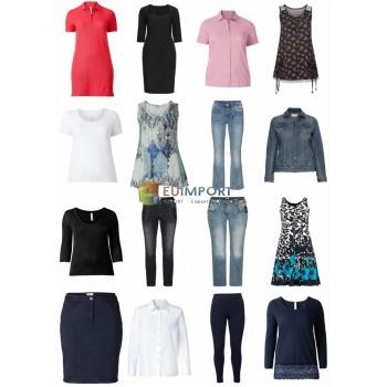 Дамы Плюс Размер одежды Модные Остатки Текстиль