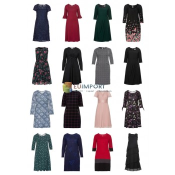 Дамы плюс размер Мода Плюс Размер Платья Remainder Mix