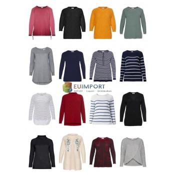 Дамы Плюс Размер Мода Плюс Размер Пуловер Свитер Трикотаж Большие размеры Оставшийся запасной микс