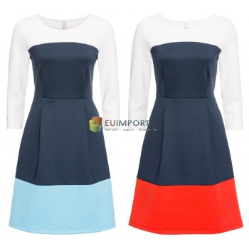Женское платье с блоками цветов 2 цвета