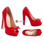 Женская обувь Peep Toe Pumps Red Heel