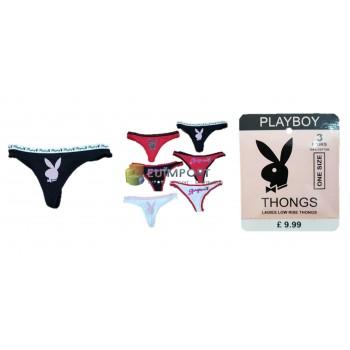 Playboy нижнее белье дамы фирменные стринги струны пакет 3
