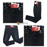 Джинсы Guess Beverly черные женские брендовые брюки