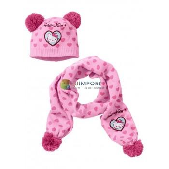Дети Привет Китти Шарф Hat Set Girl