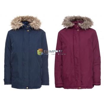 Куртка женская зимняя синяя красная куртка уличная зимняя