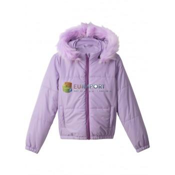 Детская куртка для девочек Стеганая куртка с капюшоном