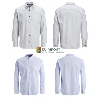 Рубашка мужская Jack & Jones белая синяя